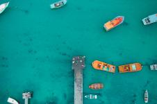 aerial view of boat dock 793166